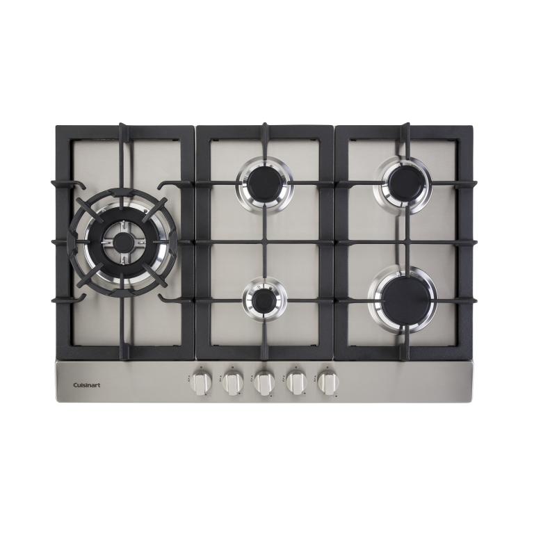 Cooktop 5Q. Gas 90cm Semi Filo Cuisinart - FlatPrime Cooking